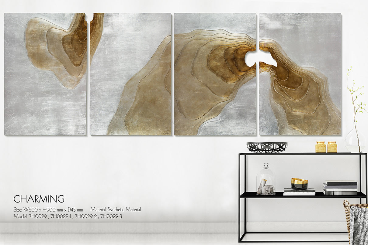 frameless wall painting