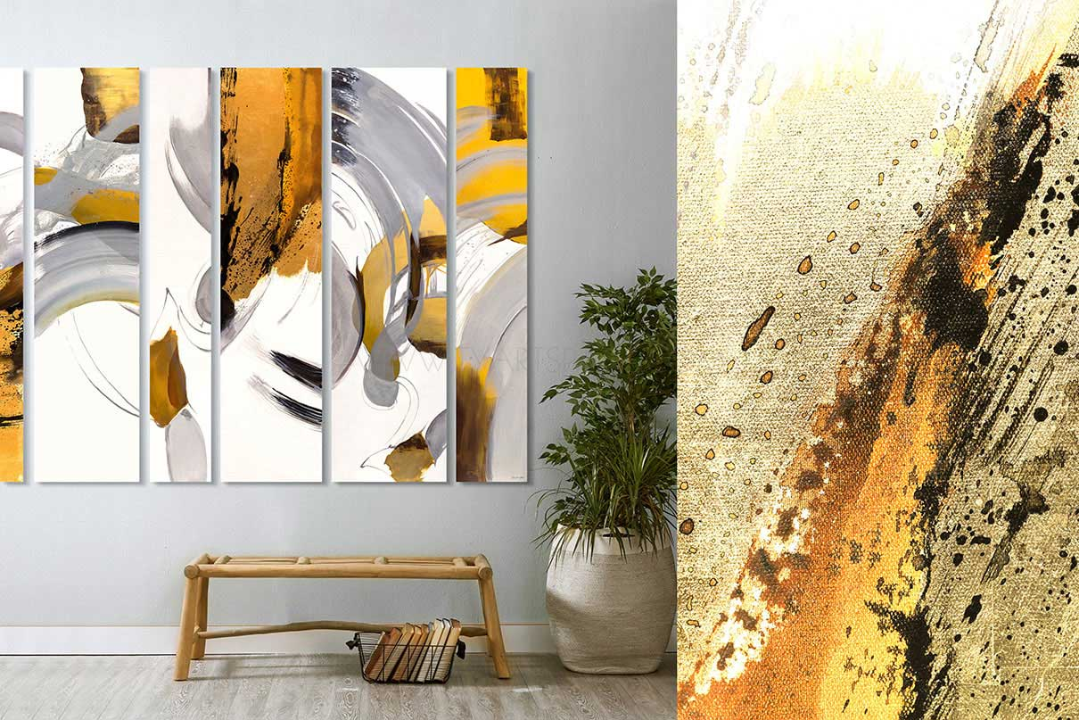 abstract oil painting artwork